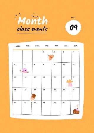 Template di design School Class Events Planning Schedule Planner