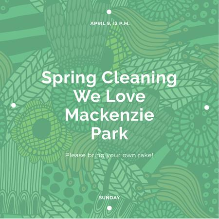 Plantilla de diseño de Spring cleaning Announcement Instagram
