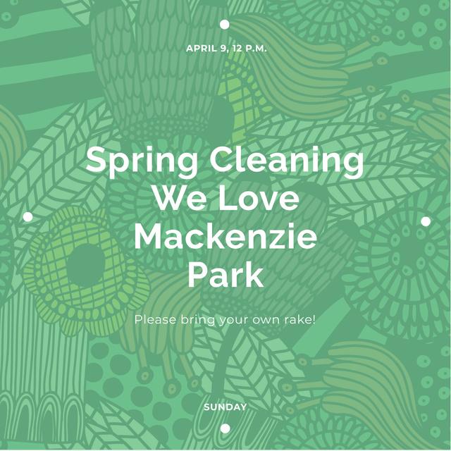 Modèle de visuel Spring cleaning Announcement - Instagram