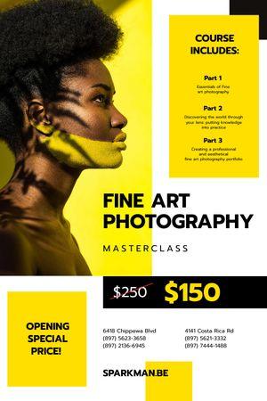 Photography Masterclass Promotion with Young Woman Tumblr tervezősablon