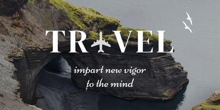 Travel Inspiration with Scenic Cliff Twitter – шаблон для дизайну