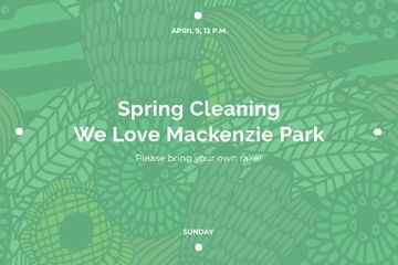 Spring cleaning in park Announcement