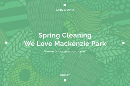 Spring cleaning in park Announcement Gift Certificate – шаблон для дизайна
