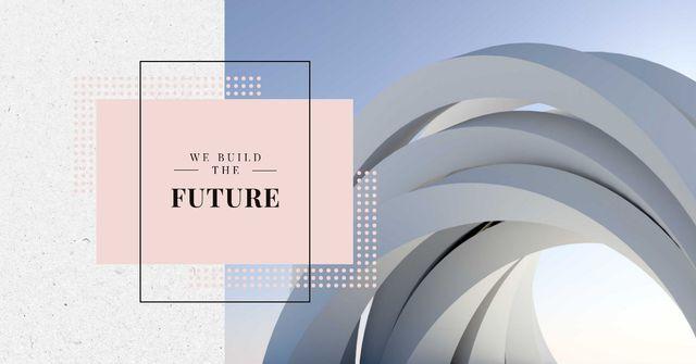 Futuristic Concrete Structure Walls Facebook AD Design Template