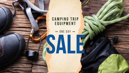 Camping Equipment Offer Travelling Kit FB event cover – шаблон для дизайну
