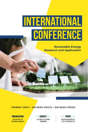 Renewable Energy Conference Announcement with Solar Panels Model Pinterest Modelo de Design