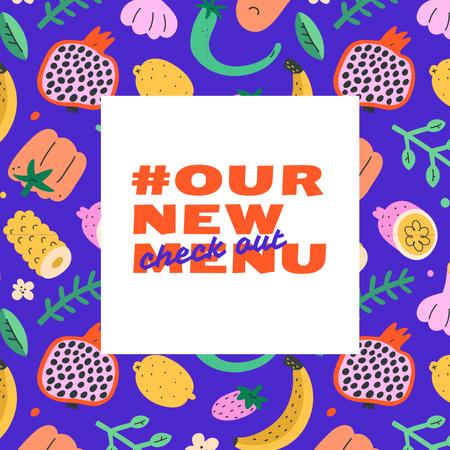 Designvorlage New Veggie Menu Announcement für Instagram