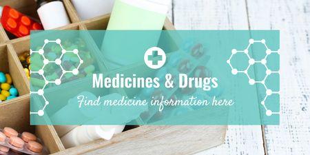 Medicine information Ad Twitter Modelo de Design