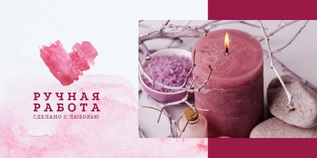 Coarse sea salt and candle Image – шаблон для дизайна