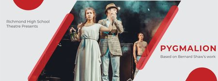Plantilla de diseño de Theater Invitation with Actors in Pygmalion Performance Facebook cover