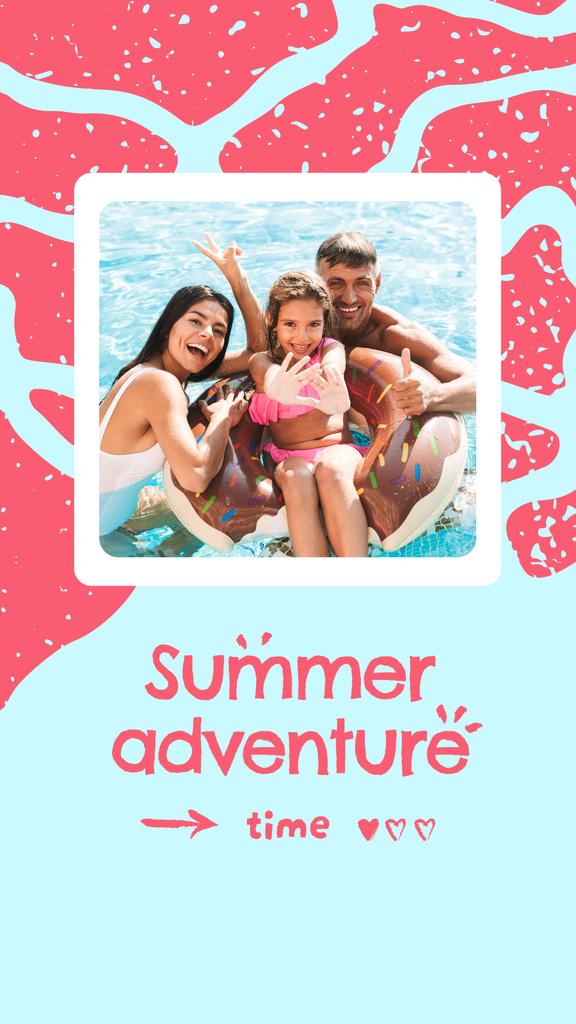Plantilla de diseño de Summer Inspiration with Happy Family in Sea Instagram Story