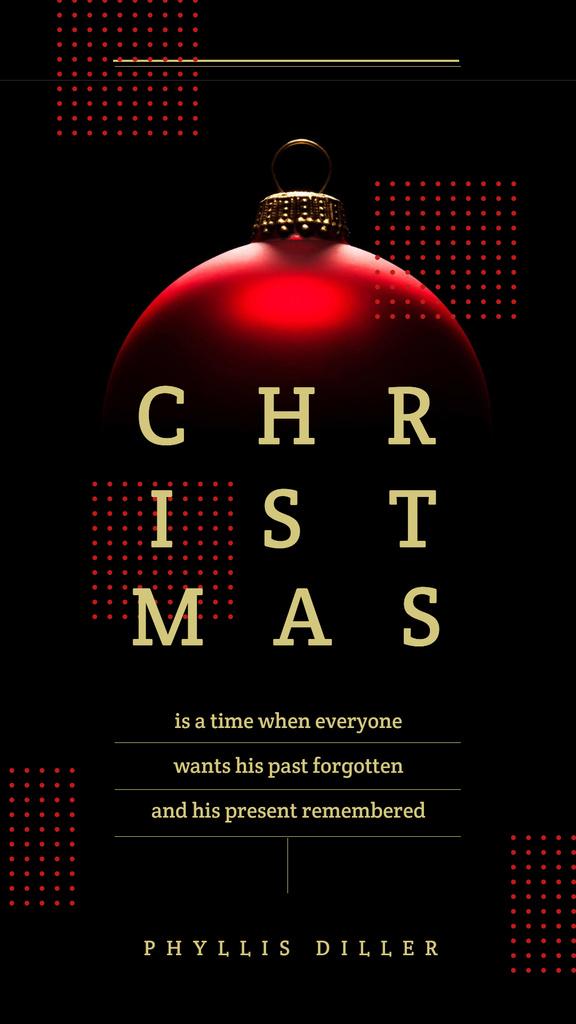 Shiny Christmas bauble with Quote — Crear un diseño
