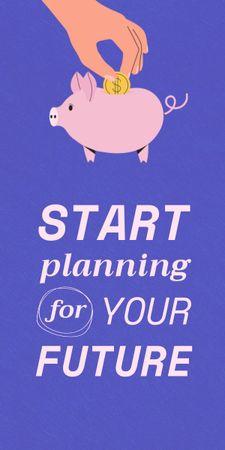 Plantilla de diseño de Saving Money with Piggy Bank Graphic