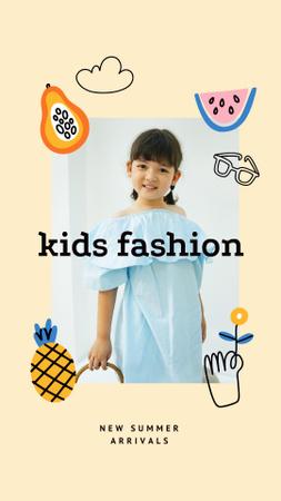 Plantilla de diseño de Summer Kids Fashion Collection Announcement Instagram Story