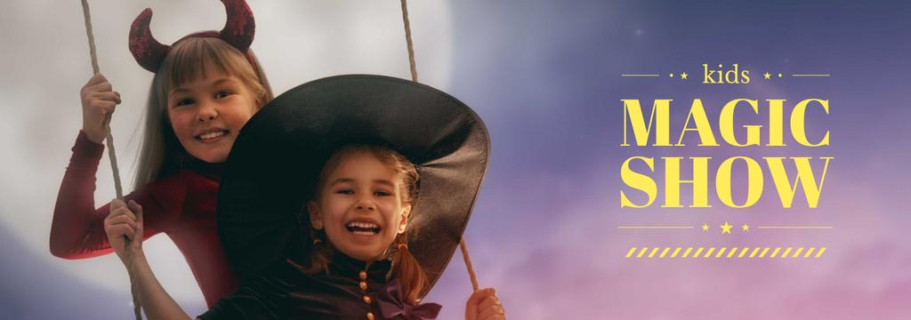 Magic Show Inspiration Girls in Halloween Costumes — Создать дизайн