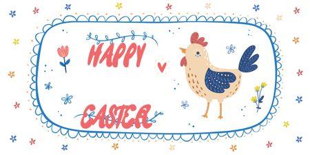 Plantilla de diseño de Happy Easter Day postcard Image