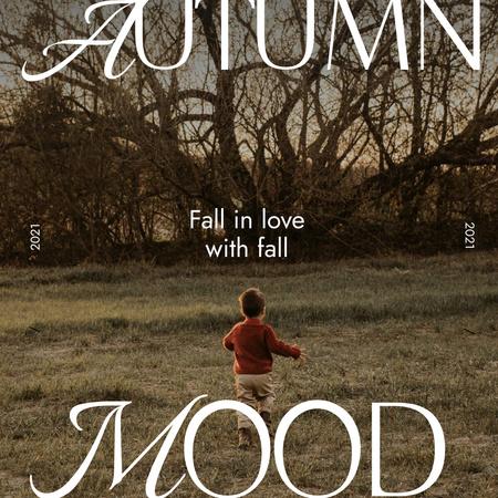 Autumn Inspiration with Cute Child Instagram – шаблон для дизайну