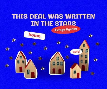 Funny Joke about Real Estate Deal Facebook Design Template