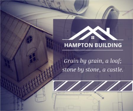Hampton building poster Large Rectangle Modelo de Design