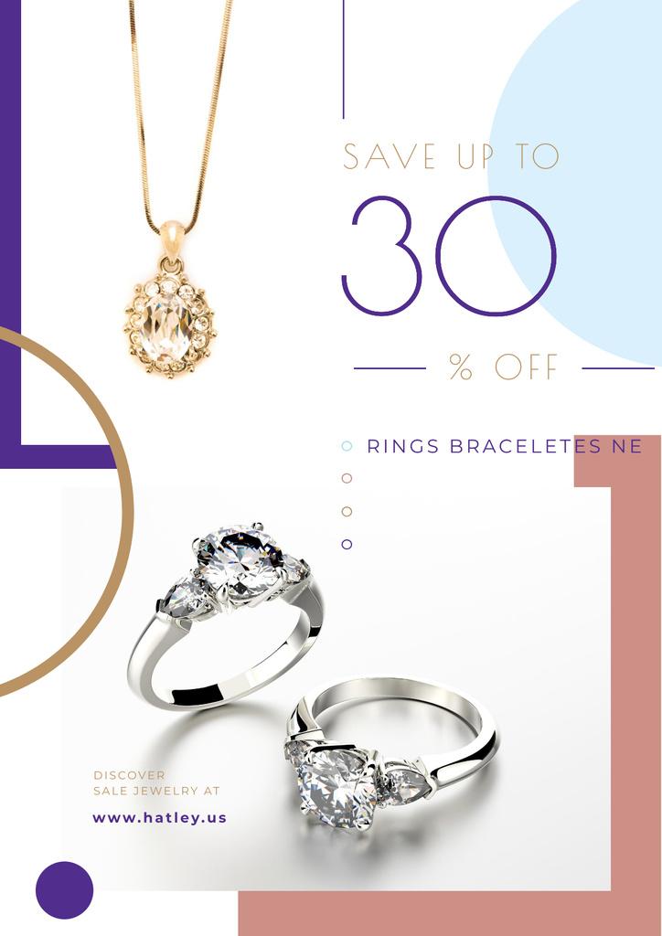 Jewelry Sale with Shiny Accessories with Precious Stones – Stwórz projekt