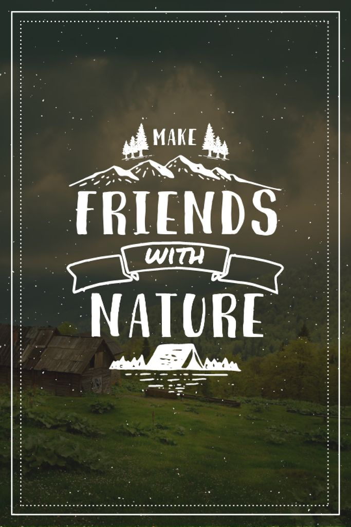 Nature Quote Scenic Mountain View —デザインを作成する