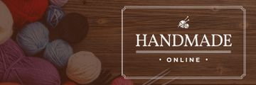 handmade online banner with yarn