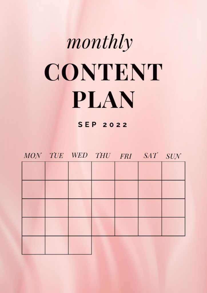 Monthly Content Planning Schedule Planner – шаблон для дизайна