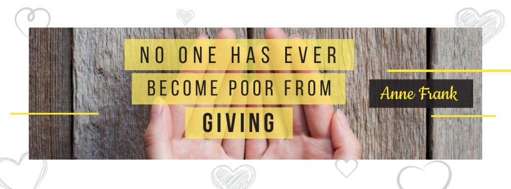 Ontwerpsjabloon van Facebook cover van Citation about no one is poor