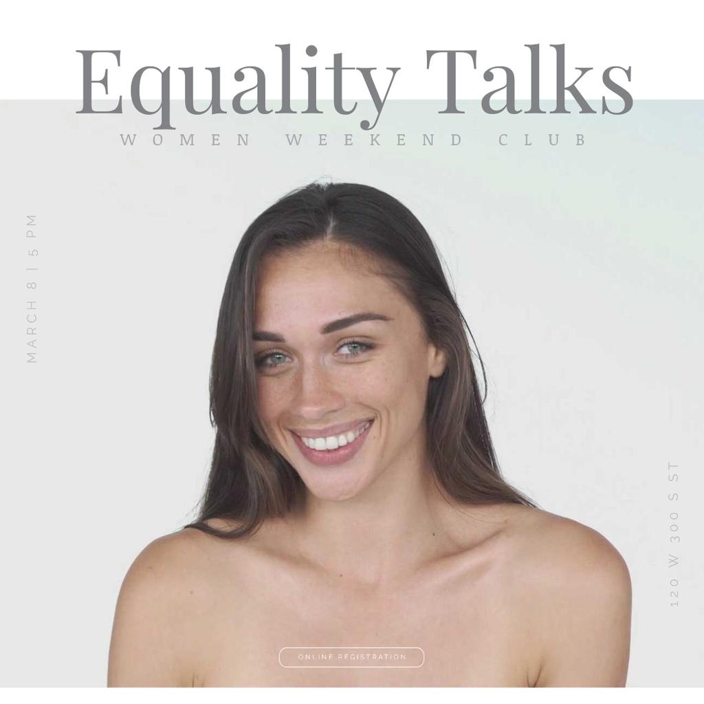 Woman's Day Celebration with Diverse Female Portraits — Modelo de projeto