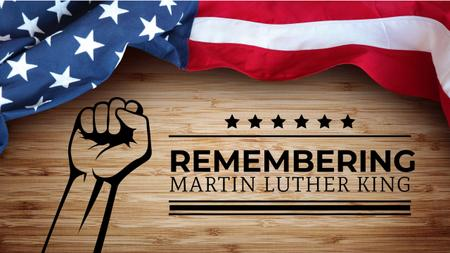 Template di design Martin Luther King Day Greeting with Flag Youtube