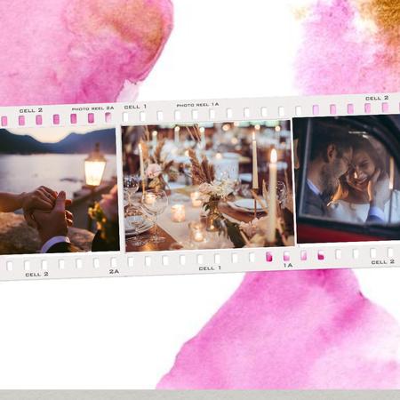 Template di design Happy Couple romantically celebrating Wedding Instagram