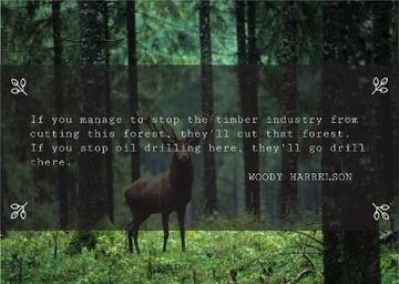 Nature saving quote with Deer