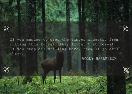 Szablon projektu Nature saving quote with Deer Card