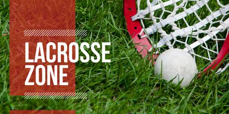 Lacrosse Match Announcement Ball on Field Image Modelo de Design