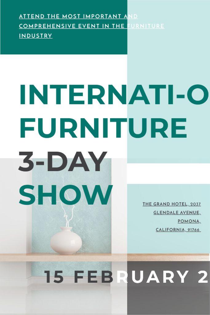 Szablon projektu Furniture Show announcement Vase for home decor Tumblr