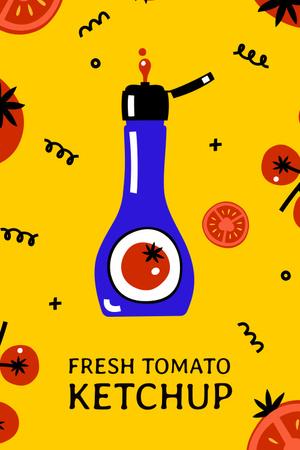 Plantilla de diseño de Cute illustration of Fresh Tomato Ketchup Pinterest