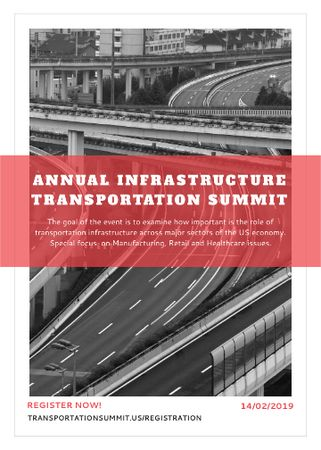 Ontwerpsjabloon van Invitation van Annual infrastructure transportation summit