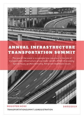 Modèle de visuel Annual infrastructure transportation summit - Invitation