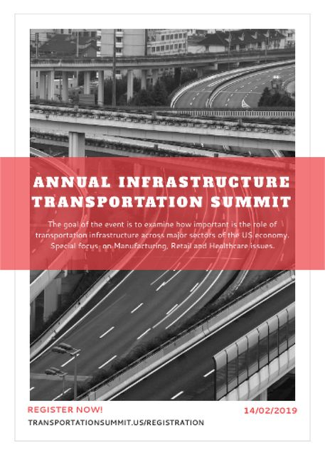 Plantilla de diseño de Annual infrastructure transportation summit Invitation
