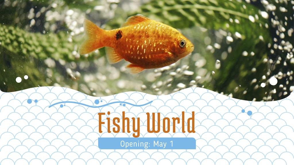 Golden Fish Swimming Underwater — Create a Design