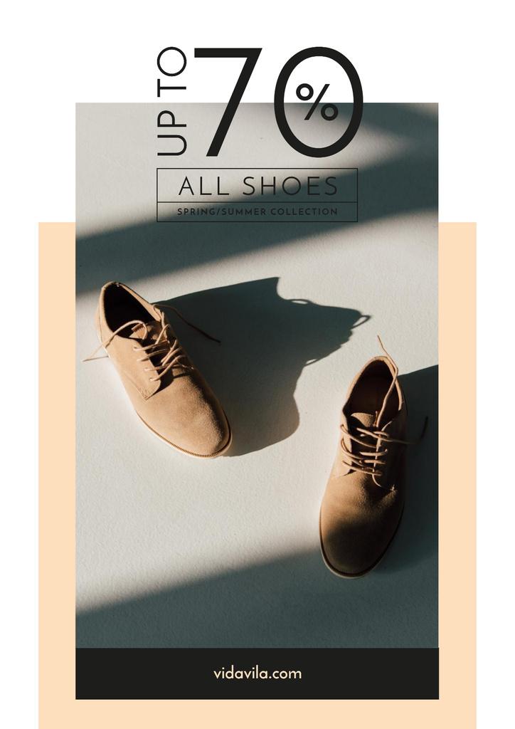 Fashion Sale with Stylish Male Shoes — Modelo de projeto