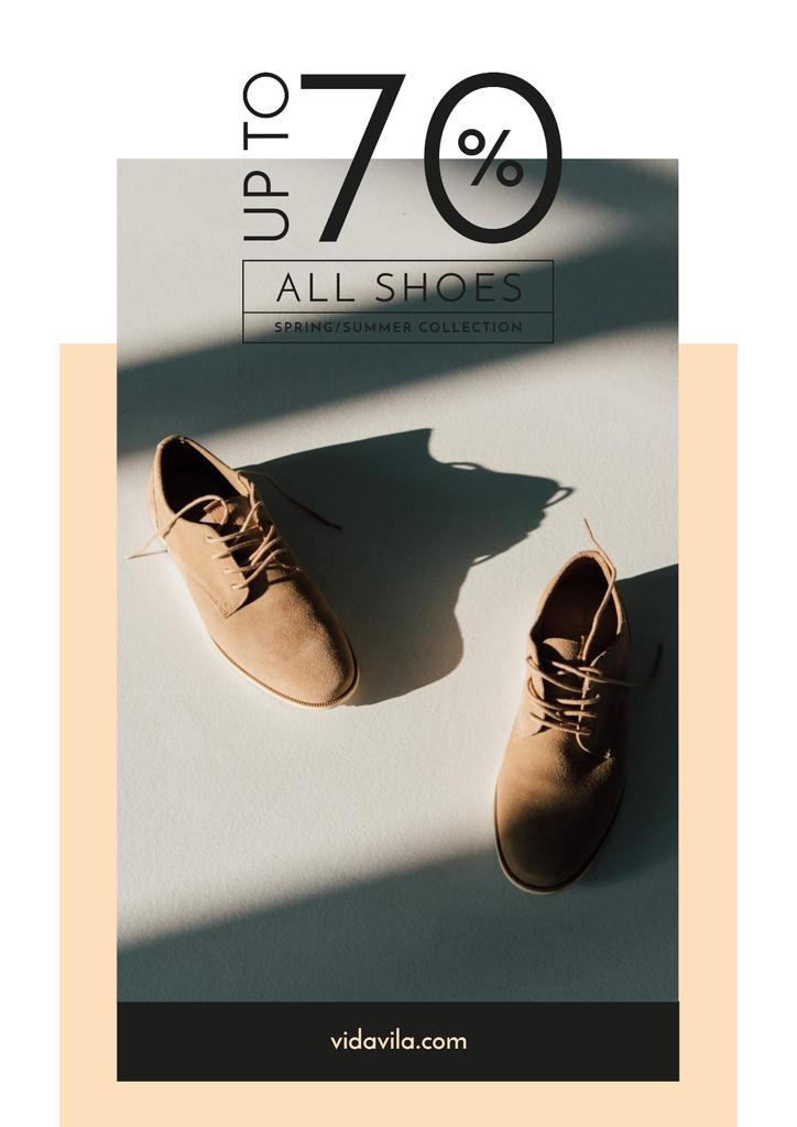 Fashion Sale with Stylish Male Shoes — Crear un diseño