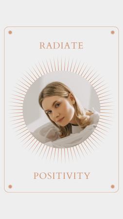 Mental Health Inspiration with Woman in Sun Frame Instagram Story – шаблон для дизайна