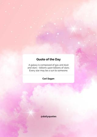 Template di design Quote of the day on pink sky Poster