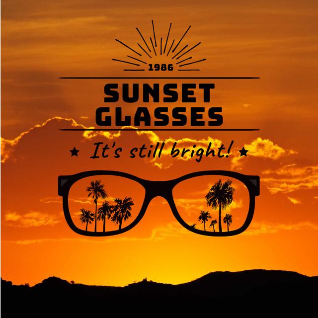 Ontwerpsjabloon van Instagram AD van Sunglasses Promotion on sunset