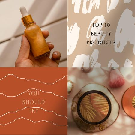 Ontwerpsjabloon van Instagram van Natural Beauty Products Ad
