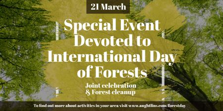 Plantilla de diseño de Special Event devoted to International Day of Forests Image