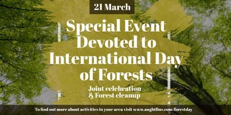 Special Event devoted to International Day of Forests Image Design Template
