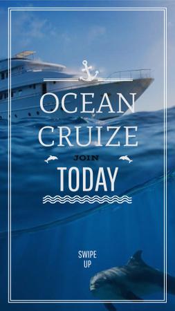 Ocean cruise Promotion Ship in Sea Instagram Story – шаблон для дизайну