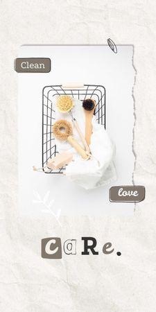 Modèle de visuel Eco Concept with Wooden Brushes in Basket - Graphic